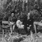 Josip Broz Tito with wife and dog. - 8x10 photo