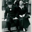 Winston Churchill with his wife. - 8x10 photo