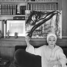 Ludmilla Tcherina relaxing on couch.  - 8x10 photo