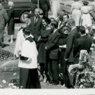 Ernest Hemingway. People at funeral ceremony. - 8x10 photo