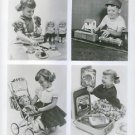 Children playing with toys in different photographs.  - 8x10 photo