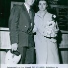 1956Paratrooper Colette Duval with Gil Delamare a stuntman and actor French . -