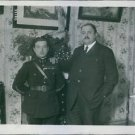 """Rene Fonck with a man.""""Fonck, Rene French aviator, also with the lawyer Verlet"""