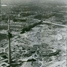 Construction of Olympic buildings in Munich, 1970. - 8x10