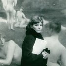 Ulla Bergryd in front of painting. - 8x10 photo