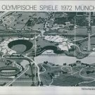 An illustration of Olympic games stadiums in Munich, West Germany in 1972. - 8x1