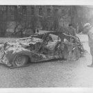 Bombed car. War. Finland 1939 - 1940 - 8x10 photo