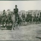 THE PERSIAN-RUSSIAN WAR---PERSIAN CAVALRY PASSING THE REVIEW BEFORE THE SHAH OF
