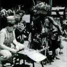 Tribal people sitting. - 8x10 photo
