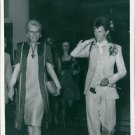 David and Angie Bowie at Bowie´s farewell party in London 1973. - 8x10 photo