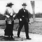 Winston Churchill and Miss M. Elliott golfing at Cannes, South of France.  - 8x1