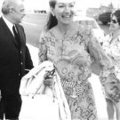 Maria Callas while meeting with people. - 8x10 photo