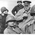 Winston Churchill smoking cigar with his soldiers. - 8x10 photo