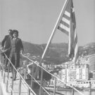 Maria Callas coming off from boat. - 8x10 photo