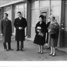 Queen Fabiola and King Baudouin with people. - 8x10 photo