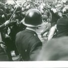 Confrontation between people and cops,Paris,  1968. - 8x10 photo