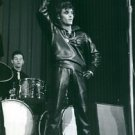 """Vince Taylor with his band """"Playboys"""" performing on stage.Taken - Circa 1962 -"""