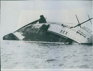 "The pride of Italy's fleet - the crack liner ""Rex"" former winner of the Transatl"