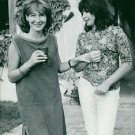 Juliette Greco and sister Charlotte. - 8x10 photo