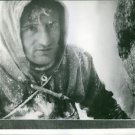 Close-up of a man smeared with snow on Mount Blanc mountain. - 8x10 photo