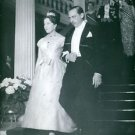 Count and Countess of Paris walking down stairs, at party.  - 8x10 photo