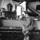 Charles Aznavour posing. - 8x10 photo