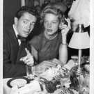 Lauren Bacall and Farley Granger during an after dinner conversation.  - 8x10 ph