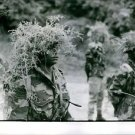 Kongo 1961Soldiers stood firmly in their camouflage uniform while wearing a hat
