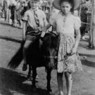 Julie Christie as young girl, with horse and boy. - 8x10 photo