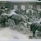 Photo of German troops occupied Brussels. 1914. - 8x10 photo