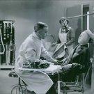 """Anders Henrikson and Ingrid Bergman in the film """"En kvinnas ansikte"""" (A Woman's"""