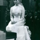 Princess Anne of Orléans sitting in church on her wedding day. - 8x10 photo