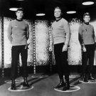 Star Trek, starring (left to right)Leonard Nimoy, William Shatner and DeForest K