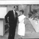 Julie Andrews and Rock Hudson standing . - 8x10 photo