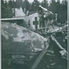 Remains of an air ambulance crashed  in Västerbotten. - 8x10 photo