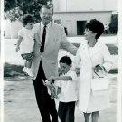 John Wayne with his family. - 8x10 photo