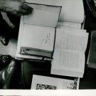 Ernest Hemingway. Overhead view of books.  - 8x10 photo