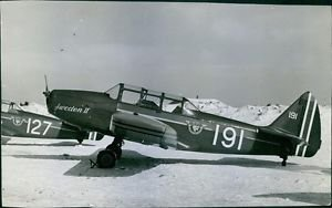 Close-up of one the planes donated by Swedish-Americans. - 8x10 photo