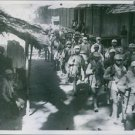 1942 The war in Burma. Chinese forces head South.Chinese troops enter a Burmese