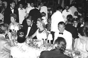 Gregory Peck and Grace Kelly on party. - 8x10 photo