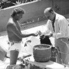 Richard Burton, Liz Taylor and Liz Hairdresser. - 8x10 photo