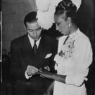 Josephine Baker at her wedding to Jo Bouillon.  - 8x10 photo