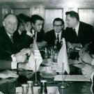Gerald Rudolph Ford sitting with people in Moscow.  - 8x10 photo