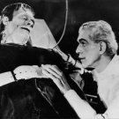 "Boris Karloff and Bela Lugosi in ""Frankenstein"" movie. - 8x10 photo"