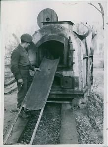 One of the ovens used by the Germans for cremating victims.There were two other