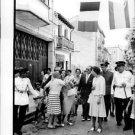 Queen Fabiola sighting with people. - 8x10 photo