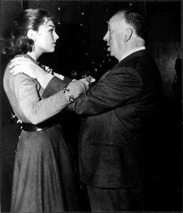 Alfred Hitchcock and Kim Novak. - 8x10 photo