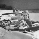 Audrey Hepburn and Mel Ferrer, enjoying a car ride. - 8x10 photo