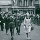 People walking and waving.  - 8x10 photo
