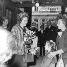 Queen Fabiola holding bouquet.  - 8x10 photo